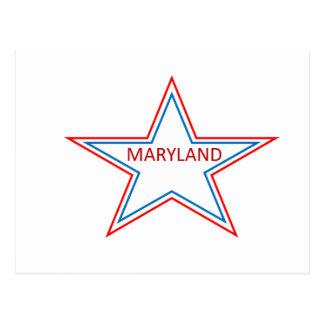 Maryland in a star postcard