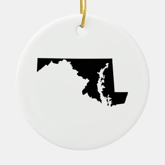 Maryland in Black and White Ceramic Ornament