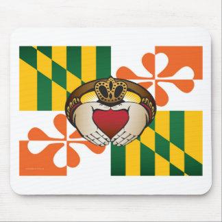 Maryland Irish Claddagh Flag Mouse Pad