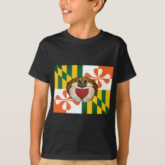 Maryland Irish Claddagh Flag T-Shirt