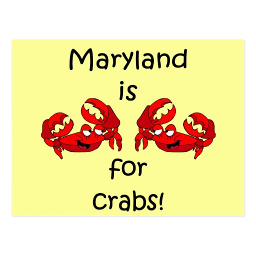 Maryland is for Crabs Postcard