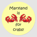 Maryland is for Crabs Sticker