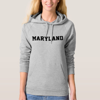 Maryland Jersey Font Black.png Hoodie