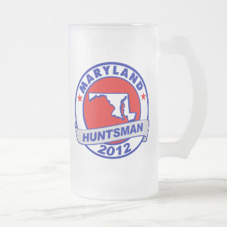 Maryland Jon Huntsman 16 Oz Frosted Glass Beer Mug