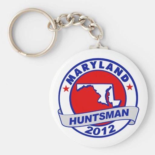 Maryland Jon Huntsman Basic Round Button Keychain