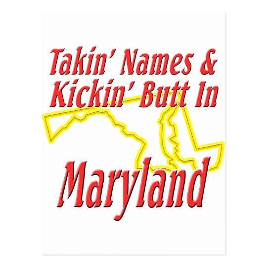 Maryland - Kickin' Butt Postcard