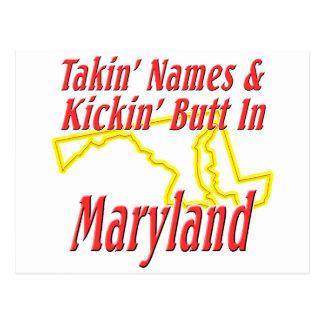 Maryland - Kickin' Butt Postcard
