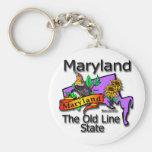 Maryland la vieja línea de estado pájaro llaveros personalizados