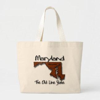 Maryland la vieja línea forma de estado bolsas