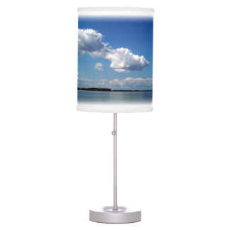 Maryland Landscape Choptank Bay Linen Fabric Lamp