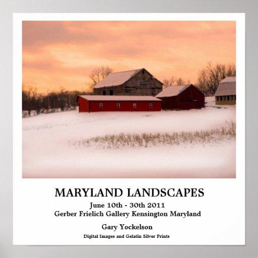 Maryland Landscapes Poster