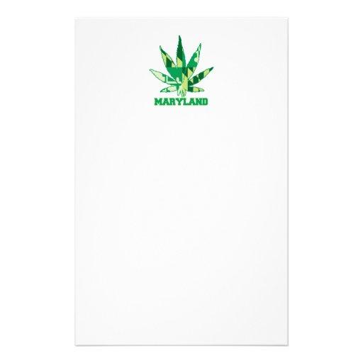 Maryland Legalize Marijuana Personalized Stationery