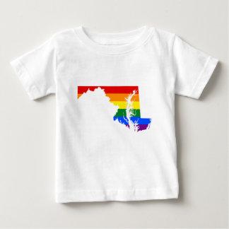 Maryland LGBT Flag Map Baby T-Shirt