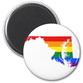 Maryland LGBT Flag Map Magnet