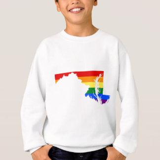 Maryland LGBT Flag Map Sweatshirt