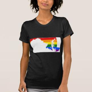 Maryland LGBT Flag Map T-Shirt