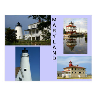 Maryland Lighthouses Postcard