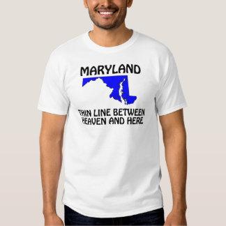 Maryland - línea fina entre el cielo y aquí poleras