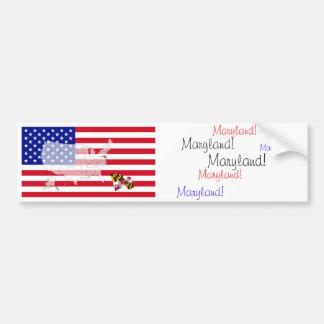 Maryland, los E.E.U.U. Pegatina Para Auto
