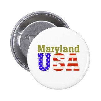 ¡Maryland los E.E.U.U.! Pin Redondo De 2 Pulgadas