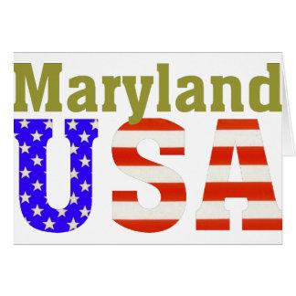 ¡Maryland los E E U U Tarjeton