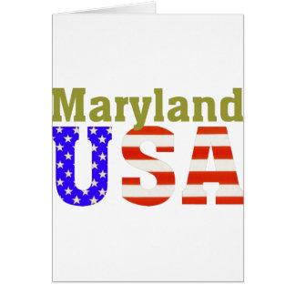 ¡Maryland los E E U U Tarjeta