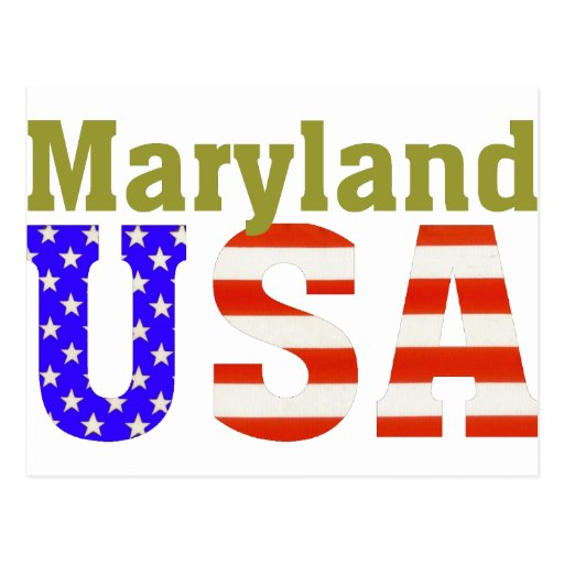 ¡Maryland los E.E.U.U.! Tarjeta Postal