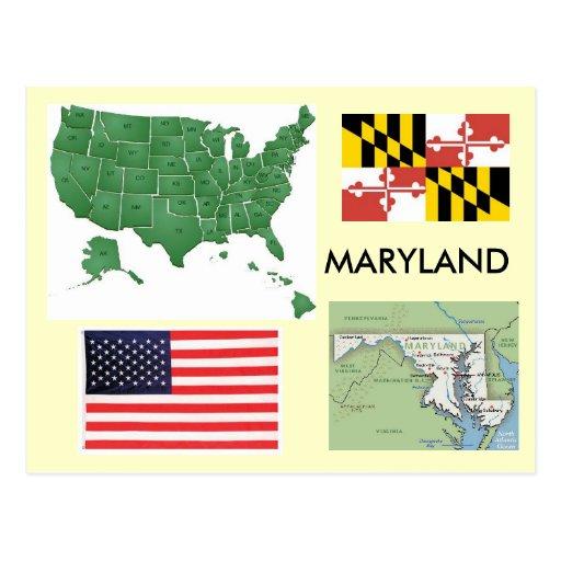 Maryland, los E.E.U.U. Tarjeta Postal