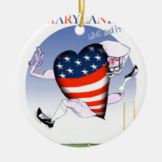 maryland loud and proud, tony fernandes ceramic ornament