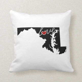 Maryland Love!  Gifts for MD Lovers Pillow