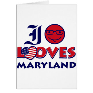 maryland lovers design card