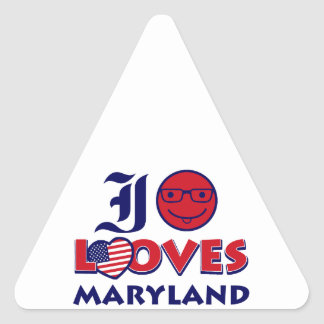 maryland lovers design triangle sticker