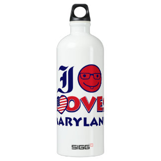 maryland lovers design water bottle
