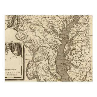 Maryland Map by Arrowsmith Postcard