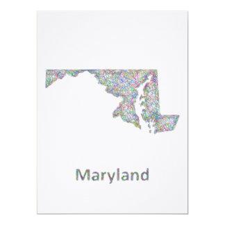 Maryland map card