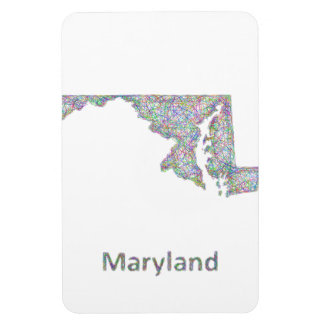Maryland map magnet