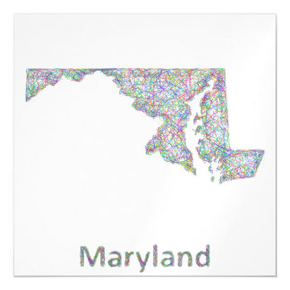 Maryland map magnetic card
