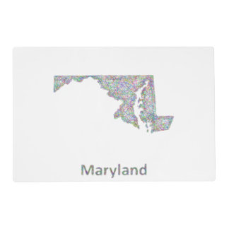 Maryland map placemat