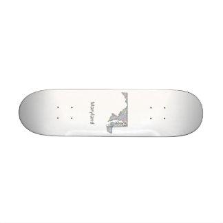 Maryland map skateboard deck