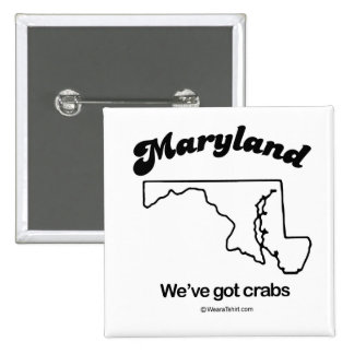 """MARYLAND - """"MARYLAND STATE MOTTO"""" T-shirts and Gea 2 Inch Square Button"""