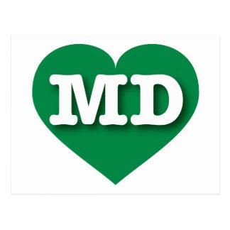 Maryland MD green heart Postcard