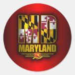 Maryland (MD) Pegatina Redonda