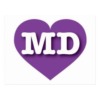 Maryland MD purple heart Postcard