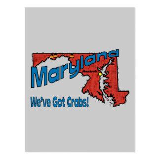 Maryland MD US Motto ~ We've Got Crabs Postcard