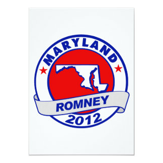 Maryland Mitt Romney 5x7 Paper Invitation Card