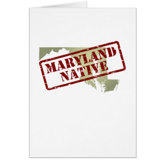 Maryland Native Stamped on Map Card
