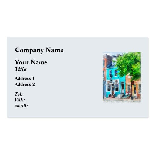 Maryland - Neighborhood Pub Fells Point MD Business Cards