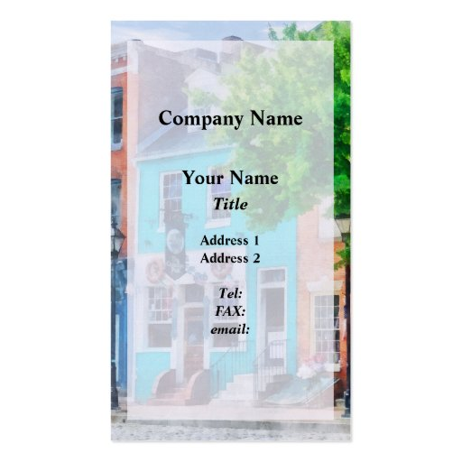 Maryland - Neighborhood Pub Fells Point MD Business Card Template