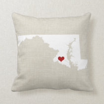 """Maryland New Home State Throw Pillow 16"""" x 16"""""""