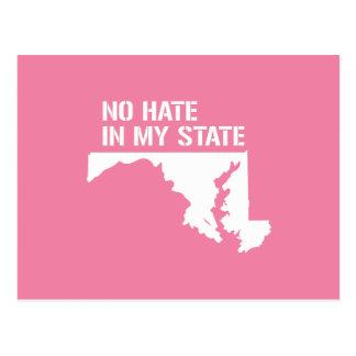 Maryland: Ningún odio en mi estado Postal